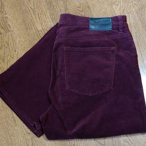 LRL Lauren Jeans Classic Straight wine cords EUC